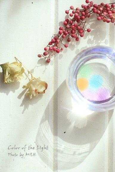 かわいいものとDAILYなショット_ガラス玉と透過光.jpg